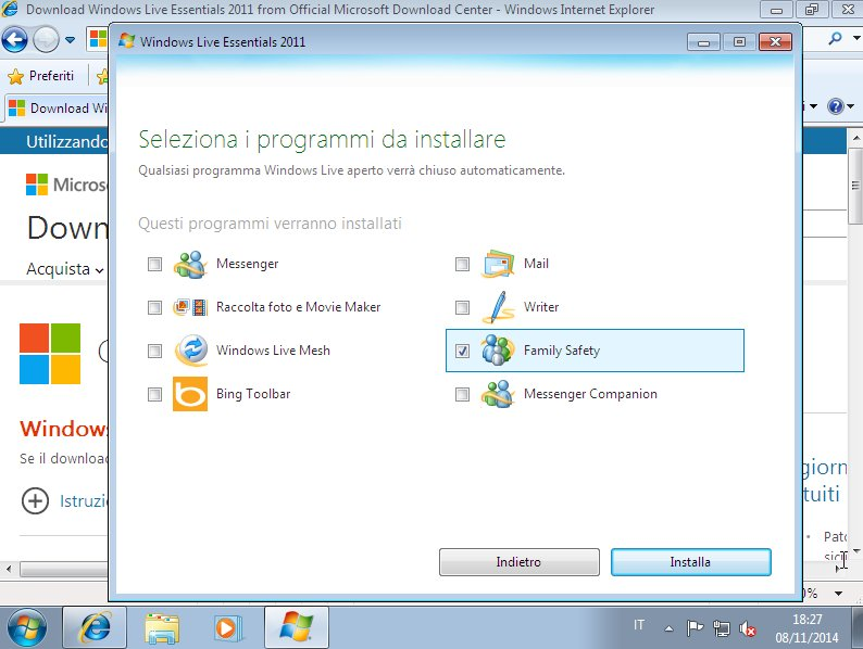 Windows Live Essential Selezione Family Safety