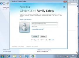 controllo genitori Accesso a Windows Live Family Safety