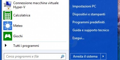 Come ripristinare il menu start di Windows 8