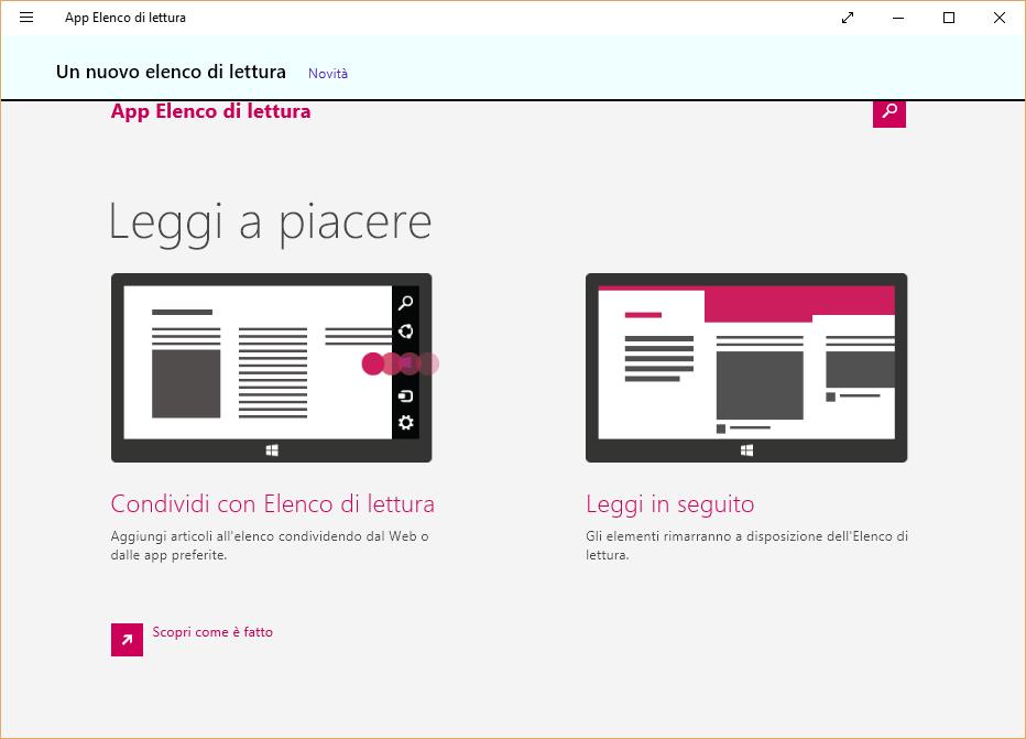 Come utilizzare App Elenco di lettura su Windows 10