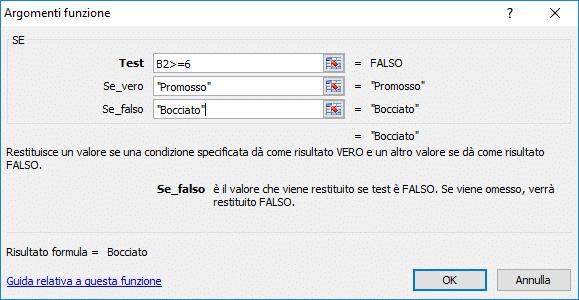 Microsoft Excel - Funzione SE
