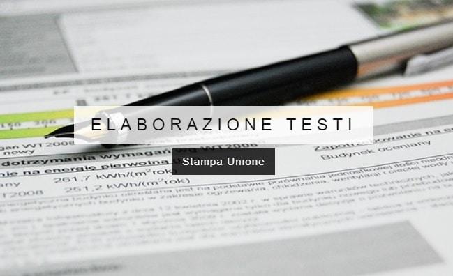 Elaborazione Testi - Stampa Unione