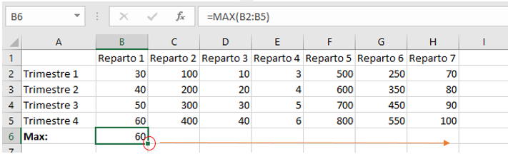 Funzione Max su Microsoft Excel
