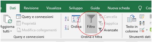 Criteri per i filtri avanzati su Excel