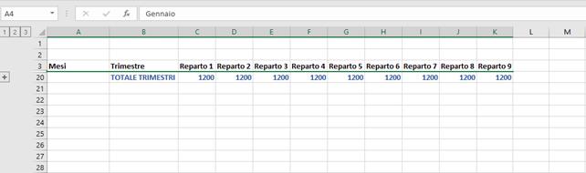Come Raggruppare Righe e Colonne su Microsoft Excel