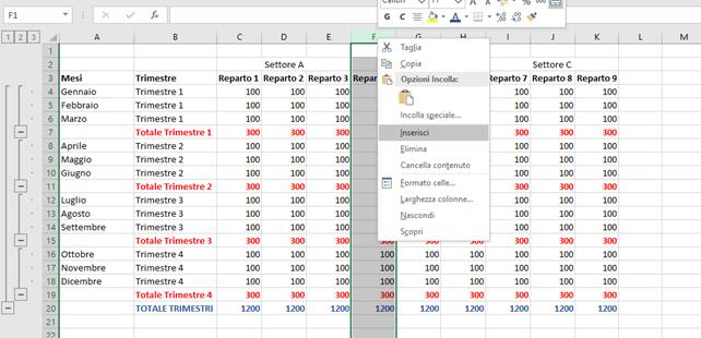 Come Raggruppare Righe e Colonne su Excel