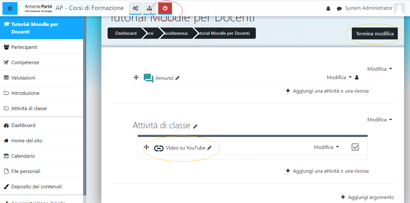 Come aggiungere un Video su Moodle
